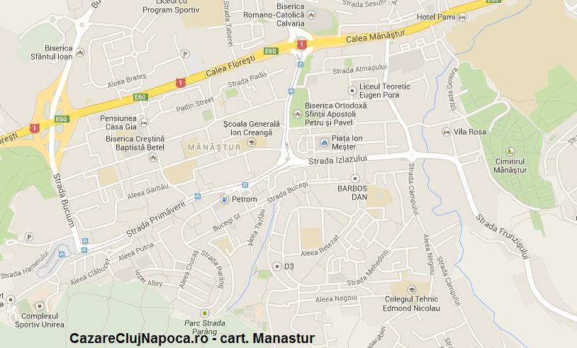 harta cartier manastur cluj