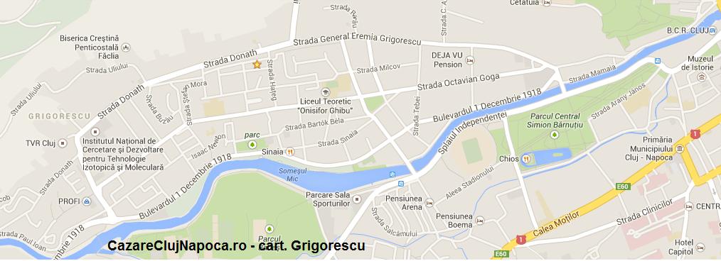 harta cartier grigorescu cluj