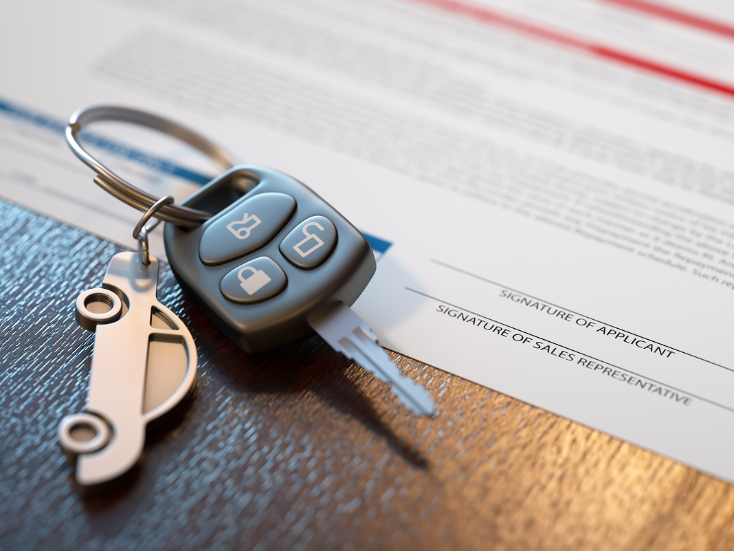 cheie si contract rent a car